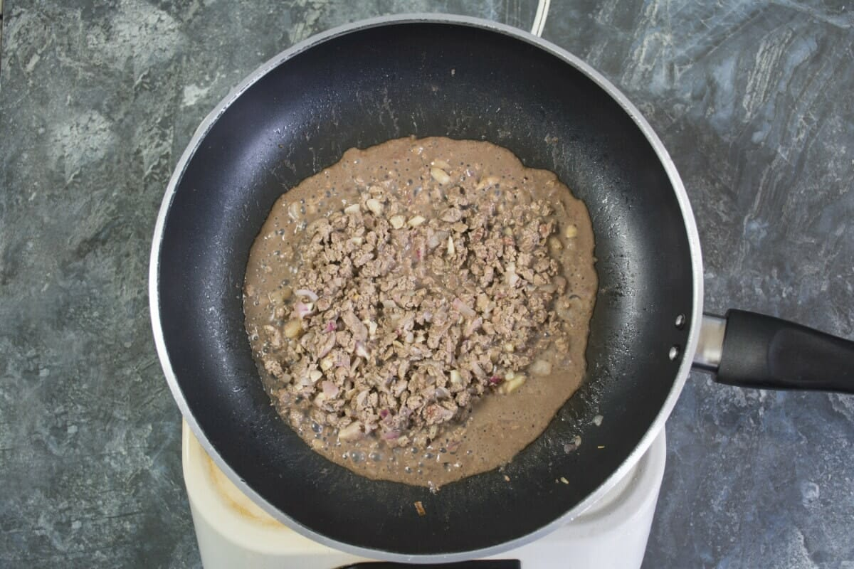 Step 6 Mix In Liver And Lemon Juice