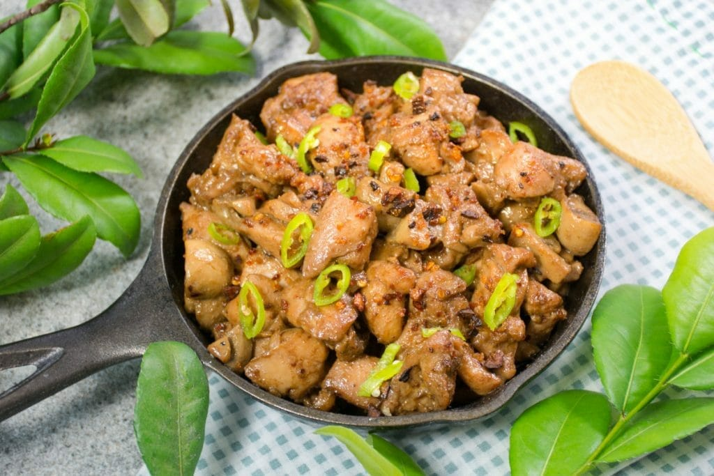 Delicious Brown Chicken Salpicao With Garlic And Chili
