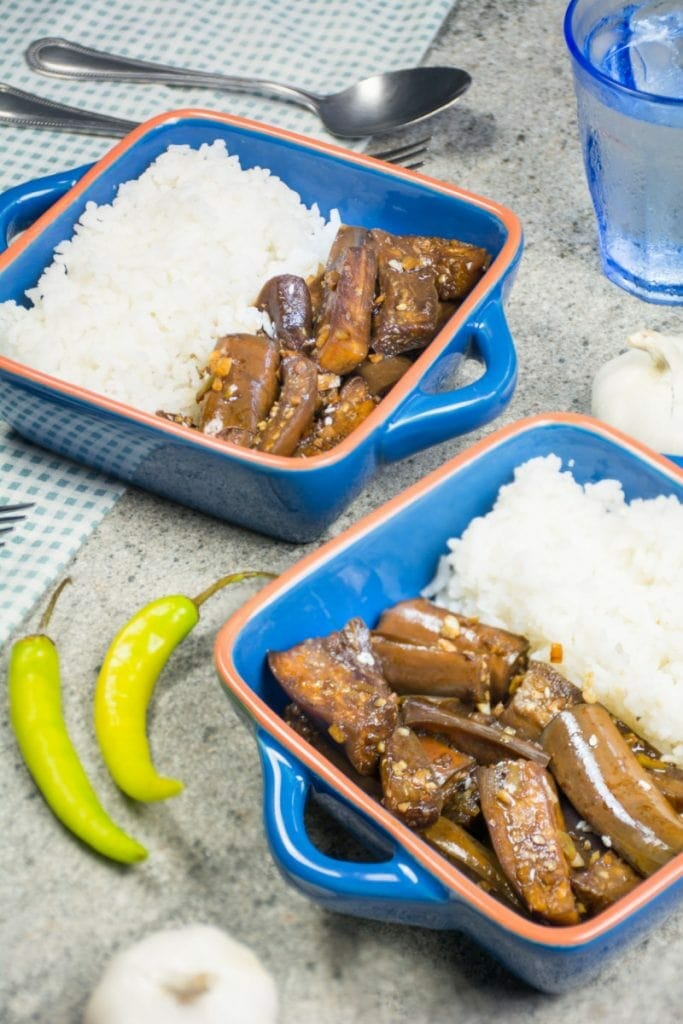 Fried Eggplant Adobo From The Philippines