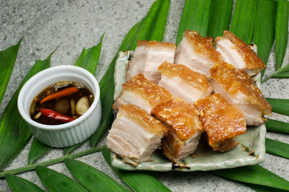 Crispy Pata With Dipping Sauce