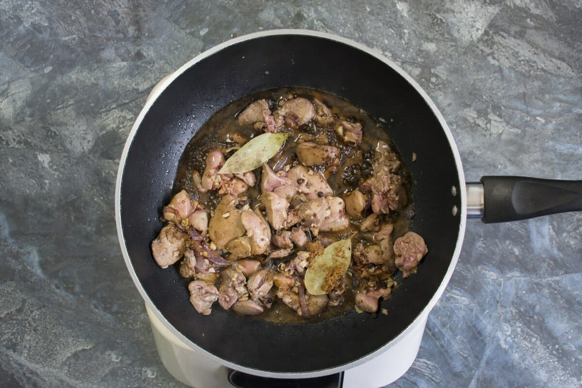 Step 5 Add Bay Leaves To Pan