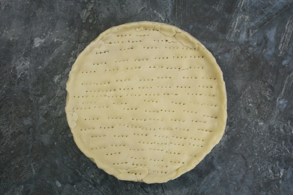 Step 11 Flattened Dough With Holes In Tin