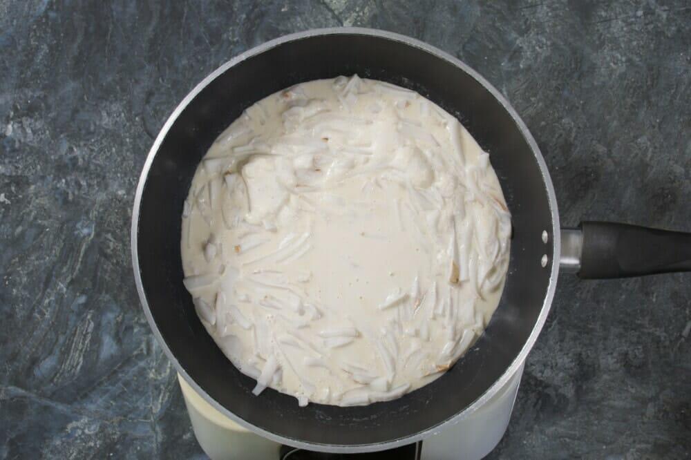 Step 8 Simmering Milk
