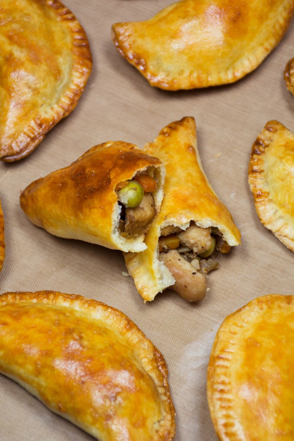 Chicken And Green Pea Filling Open Pastry