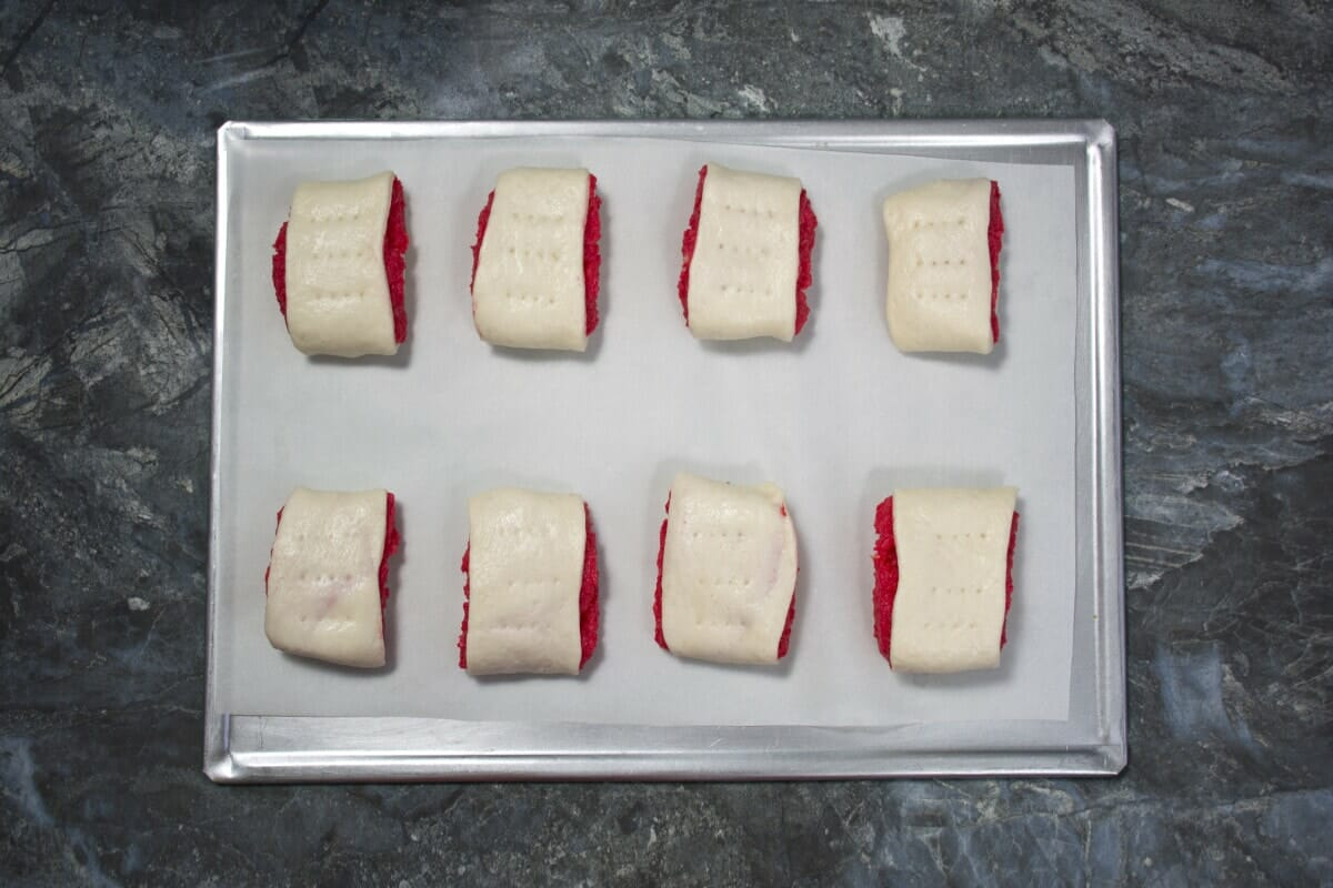 Step 11 Place On Baking Tray And Make Holes With Fork