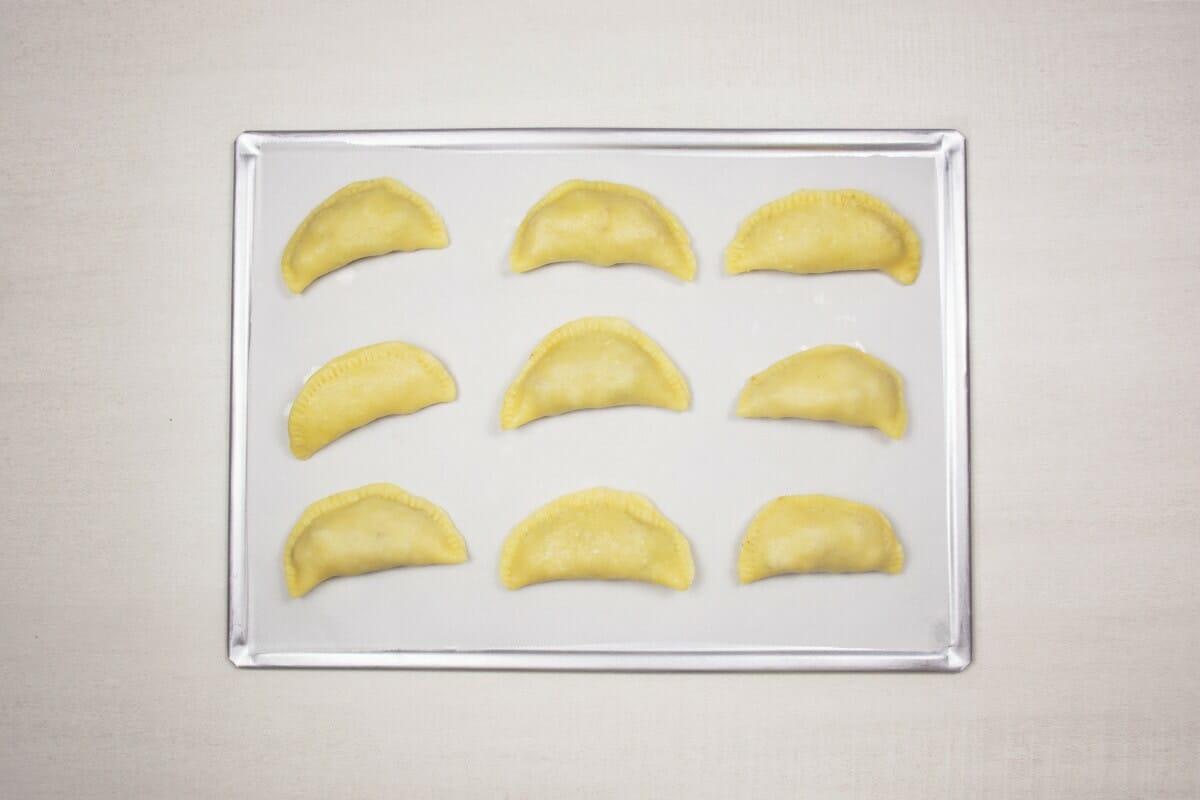 Step 15 Empanads On Baking Sheet