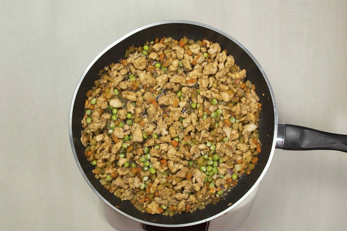 Step 6 Add Green Peas Simmer