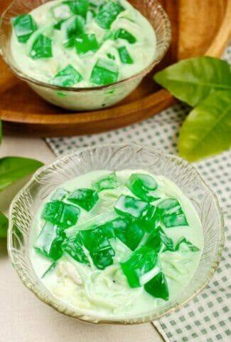 Filipino Buko Pandan Salad Dish