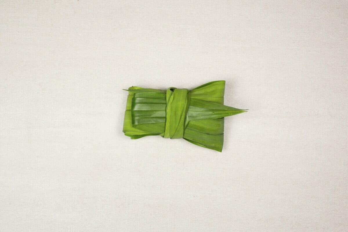 Step 3 Folded Leaves Tucked Into Bundle