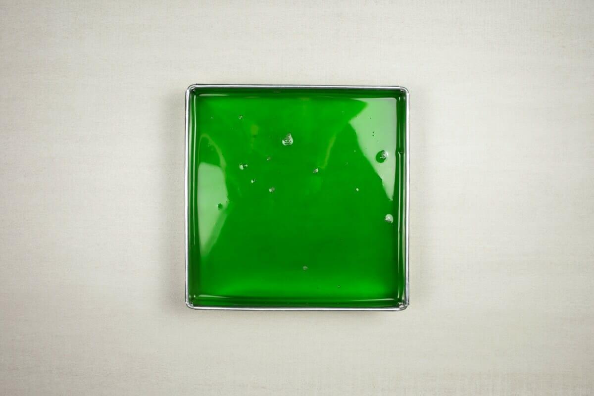 Step 6 Green Gelatin Mix In Tray
